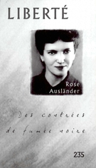 Cover of Rose Ausländer, Volume 40, Number 1 (235), February 1998, pp. 7-137, Liberté