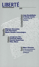Cover of Volume 40, Number 6 (240), December 1998, pp. 4-159, Liberté
