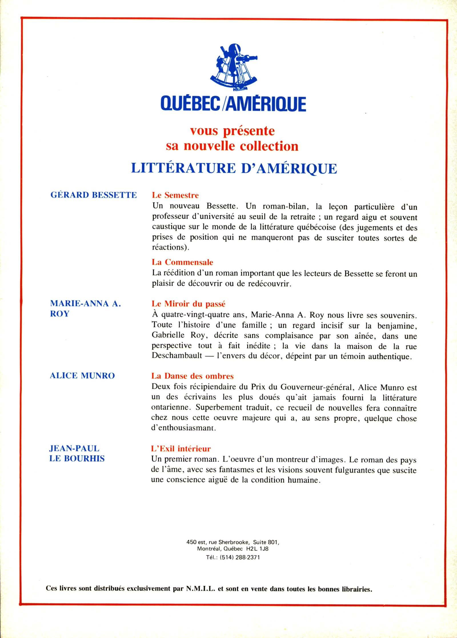 Number 16 Winter 1979 Winter 1980 Lettres Quebecoises Erudit