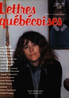 Cover of        Number 29, Spring 1983, pp. 9-81 Lettres québécoises