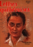 Cover of        Number 32, Winter 1983–1984, pp. 7-77 Lettres québécoises