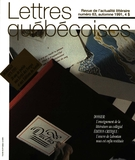 Cover of Number 63, Fall 1991, pp. 3-56, Lettres québécoises
