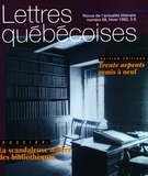 Cover of Number 68, Winter 1992, pp. 3-56, Lettres québécoises