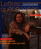 Cover of        Number 69, Spring 1993, pp. 3-56 Lettres québécoises