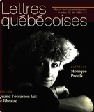 Cover of Number 70, Summer 1993, pp. 3-64, Lettres québécoises