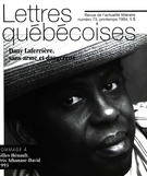 Cover of Number 73, Spring 1994, pp. 5-63, Lettres québécoises