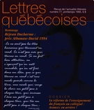 Cover of Number 77, Spring 1995, pp. 5-64, Lettres québécoises
