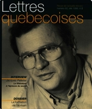 Cover of Number 82, Summer 1996, pp. 5-56, Lettres québécoises