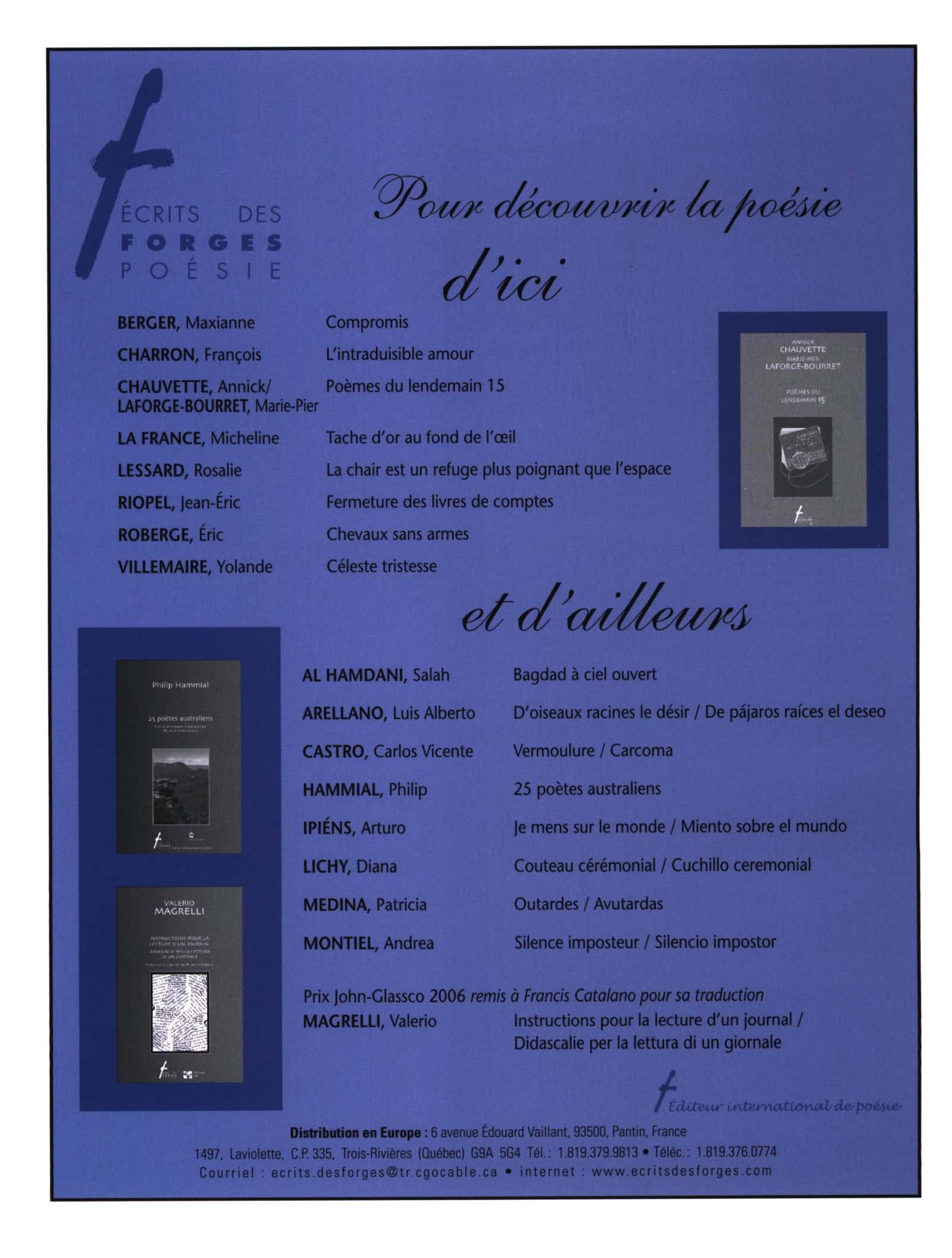 Number 124 Winter 2006 Lettres Québécoises érudit