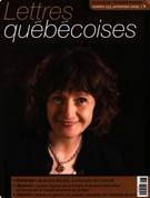 Cover of Number 133, Spring 2009, pp. 3-72, Lettres québécoises