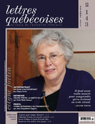 Cover of Number 143, Fall 2011, pp. 3-72, Lettres québécoises