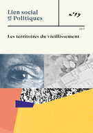 Cover forthe thematic issueLes territoires du vieillissement