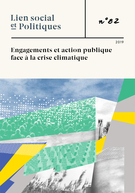 Cover forthe thematic issueEngagements et action publique face à la crise climatique