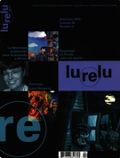 Cover of Volume 26, Number 2, Fall 2003, pp. 4-106, Lurelu