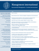 Cover of Processus stratégiques et managériaux d'internationalisation, Volume 20, Special Issue, 2016, pp. 12-183, Management international