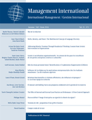 Cover of Volume 21, Number 1, Fall 2016, pp. 12-151, Management international