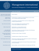 Cover of Volume 23, Number 1, Fall 2018, pp. 12-147, Management international