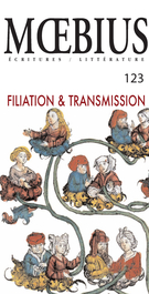 Cover of Filiation & Transmission, Number 123, Fall 2009, pp. 7-179, Moebius