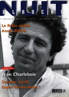 Cover of Number 72, Fall 1998, pp. 2-64, Nuit blanche, magazine littéraire