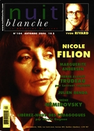Cover of Number 104, Fall 2006, pp. 2-72, Nuit blanche, magazine littéraire