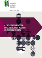 Cover forthe thematic issueDe l'intervention à l'action : nouvelles avenues d'inclusion des communautés LGBTQI