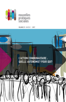 Cover forthe thematic issueL'action communautaire : quelle autonomie ? Pour qui ?