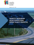 Cover forthe thematic issuePauvreté et intervention sociale en milieu rural : portrait, bilan et prospective