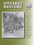 Cover of Volume 102, Number 1, Spring 2010, pp. 1-149, Ontario History