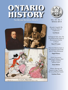 Cover of        Volume 105, Number 1, Spring 2013, pp. 1-141 Ontario History