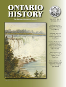 Cover of Volume 106, Number 1, Spring 2014, pp. 1-141, Ontario History
