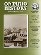 Cover of        Volume 108, Number 1, Spring 2016, pp. 1-148 Ontario History