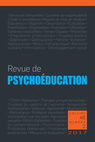 Cover of Volume 46, Number 2, 2017, pp. 263-463, Revue de psychoéducation