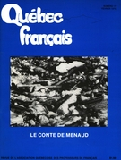 Cover of Le conte de Menaud,        Number 17, February 1975, pp. 4-42 Québec français