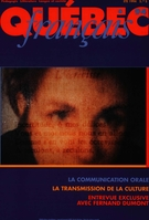 Cover of La communication orale, Number 94, Summer 1994, pp. 5-111, Québec français