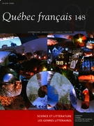 Cover of Science et littérature, Number 148, Winter 2008, pp. 1-112, Québec français