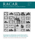 Cover of Contemporary Scholarship on Latin American Art, Volume 38, Number 2, 2013, pp. 1-141, RACAR : Revue d'art canadienne