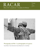 Cover of Photography and War, Volume 39, Number 2, 2014, pp. 1-127, RACAR : Revue d'art canadienne