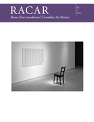 Cover of Volume 40, Number 1, 2015, pp. 1-110, RACAR : Revue d'art canadienne