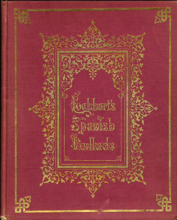 Die-stamped binding design by Owen Jones from J. G. Lockhart, Ancient Spanish Ballads: Historical and Romantic.