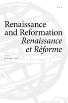 Cover for issue 'Volume 43, Number 3, Summer 2020' of the journal 'Renaissance and Reformation / Renaissance et Réforme'