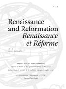 Cover for issue 'Spaces of Power of the Spanish Nobility (1480–1715)' of the journal 'Renaissance and Reformation / Renaissance et Réforme'