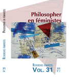 Cover forthe thematic issuePhilosopher en féministes