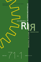 Cover of        Volume 71, Number 1, Winter 2016, pp. 3-198 Relations industrielles