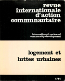 Cover of Logement et luttes urbaines,        Number 4 (44), Fall 1980, pp. 3-215 International Review of Community Development