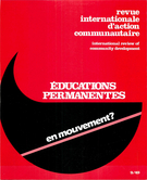 Cover of Éducations permanentes en mouvement ?, Number 9 (49), Spring 1983, pp. 3-235, International Review of Community Development