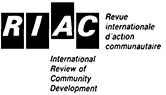 Logo for International Review of Community Development