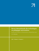 Cover of Volume 12, Number 3, 2015, pp. 6-74, Revue internationale des technologies en pédagogie universitaire