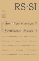 Cover forthe thematic issueSémiotique et musique. Tome 1