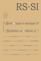 Cover forthe thematic issueSémiotique et musique. Tome 2