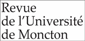 Logo for Revue de l'Université de Moncton